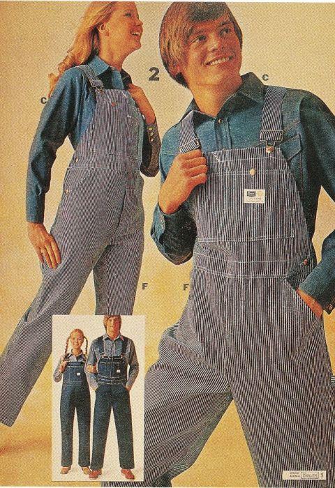 Модные журналы 1970-х годов активно рекламировали одежду в стиле унисекс.