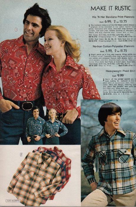 Модные журналы демонстрировали огромный выбор парных рубашек – от привычной клеточки до разнообразных геометрических принтов.