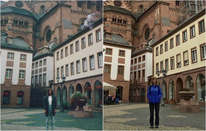 Фотографии, сделанные с разницей в 30 лет.
