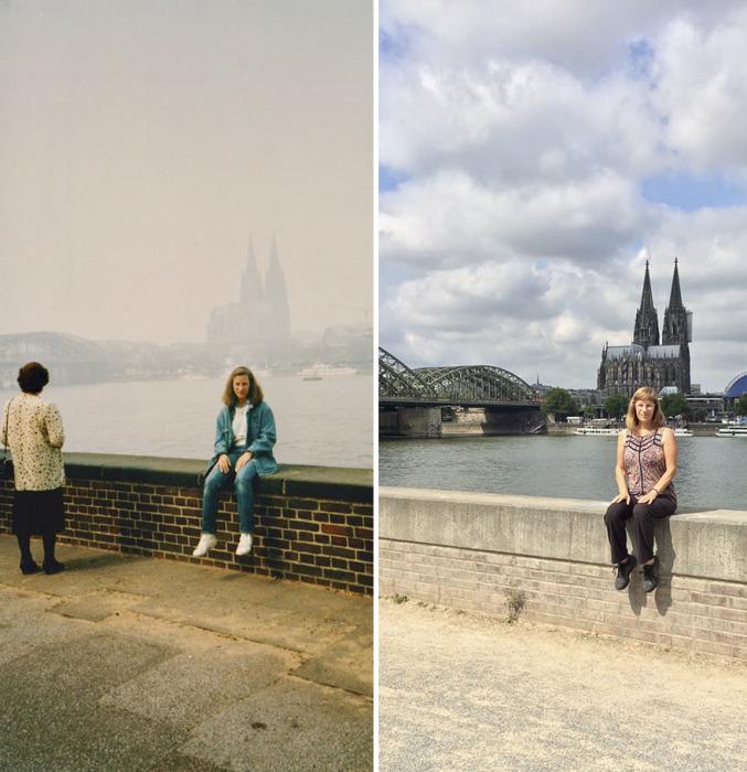 В это раз туман не мешает рассмотреть стальной арочный железнодорожный мост и третью по высоте церковь в мире.