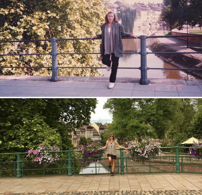 Красивые цветы на мосту – не единственное изменение, произошедшее за 30 лет.
