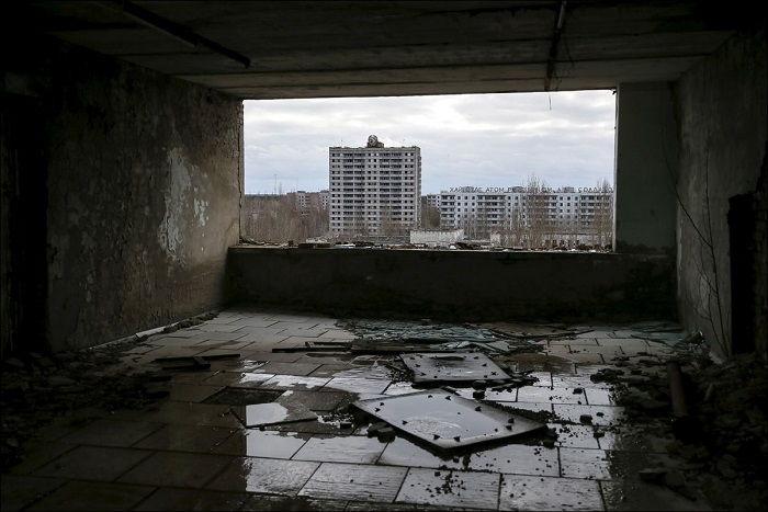 Город Припять из окна.