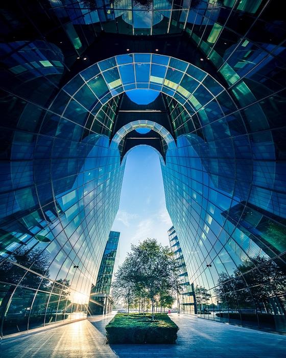 Хрупкий островок живой природы на улицах современного Лондона, одетого в бетон, стекло и зеркала.