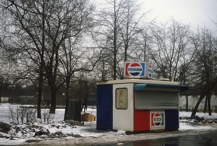 Ларёк с Пепси-Колой в Парке Горького.