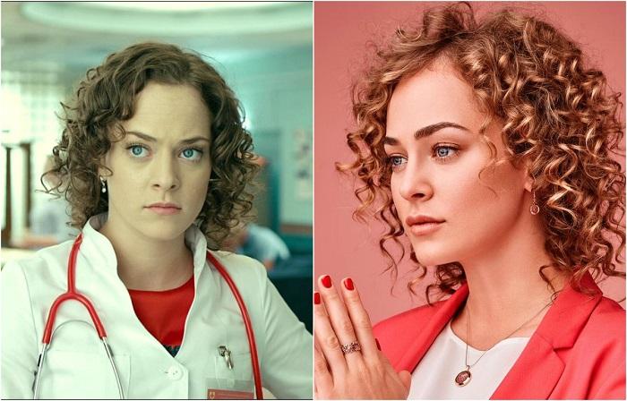 Молодая российская актриса, которая обрела популярность после роли Сони в знаменитом медицинском телесериале «Интерны».