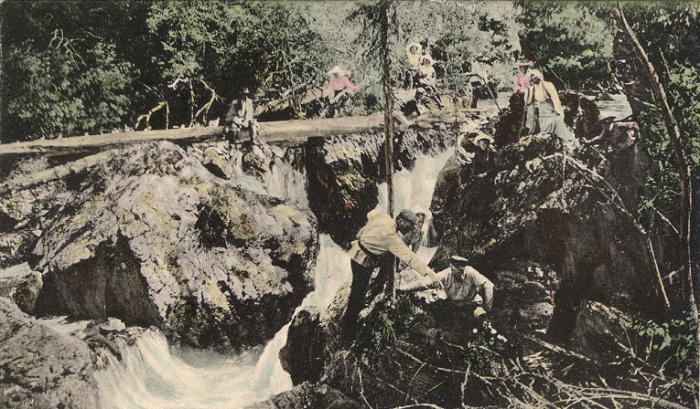 Дачники в долине реки  Ергол, притоке Чарыша.