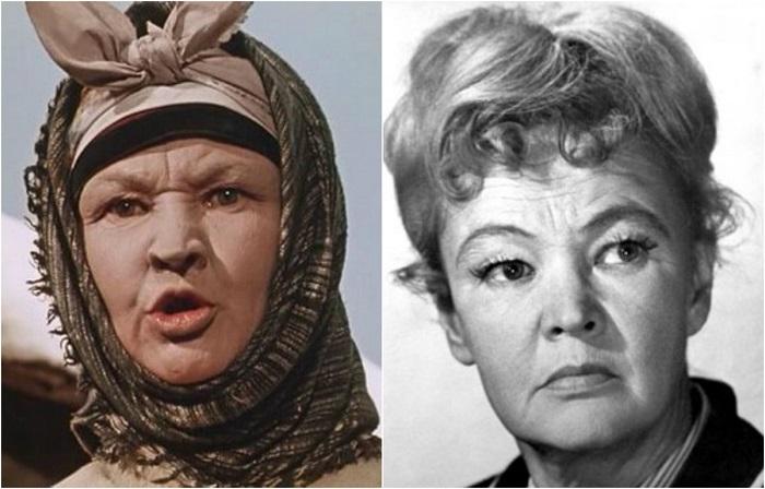 Роль старой «пепельчихи» и жены кума Панаса была далеко не первой работой актрисы в фильмах-сказках, где Алтайская играла отрицательных героев.