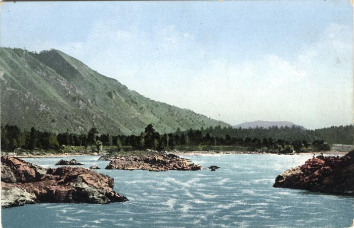 Манжерокский порог на реке Катунь.