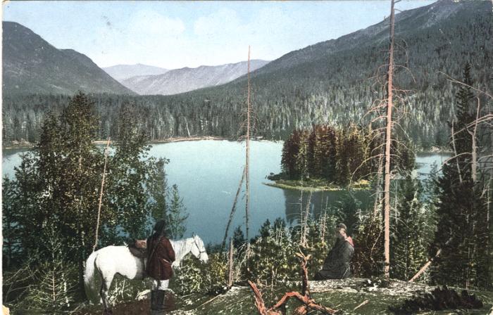 Нижнее озеро расположенное в долине реки Арасан.