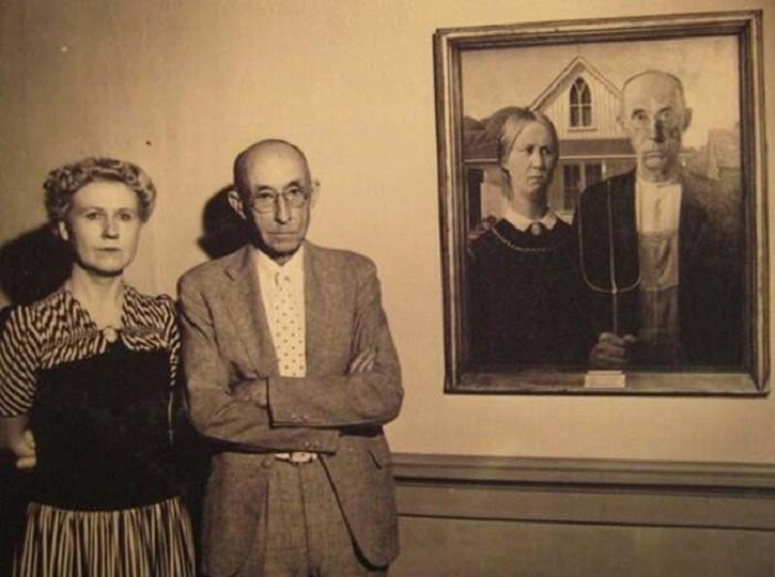 Знаменитая картина американского художника Гранта Вуда (Grant DeVolson Wood), созданная в 1930 году.