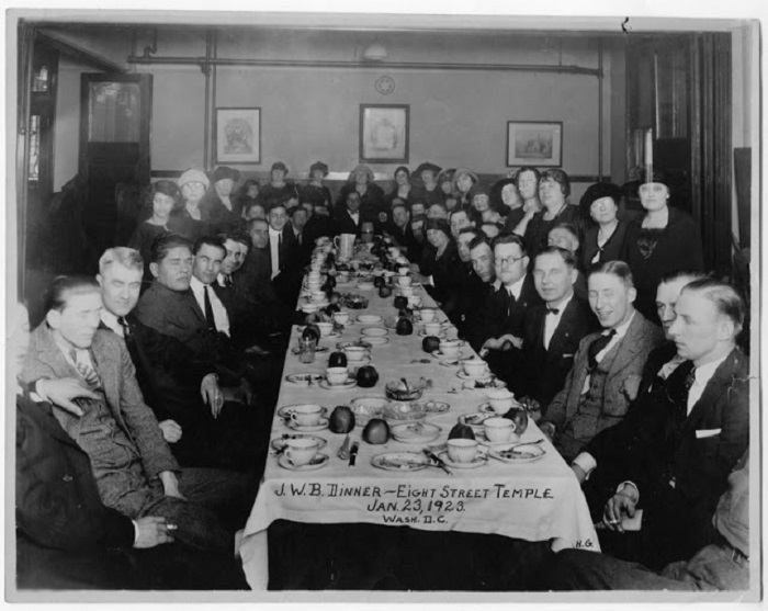 Синагога на Восьмой Стрит, 23 января 1923 года.