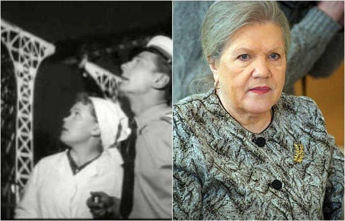 Советская актриса театра и кино играет продавщицу мороженого.