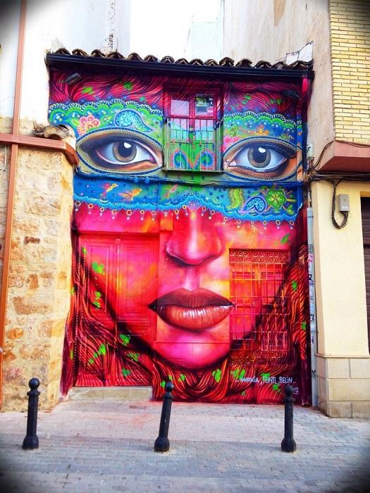 Стрит-арт от Анаркии в городе  Линарес, Испания.