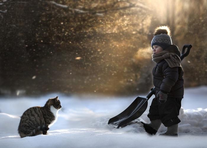 Вдвоем любая работа проходит веселее. Фотограф Елена Шумилова (Elena Shumilova).