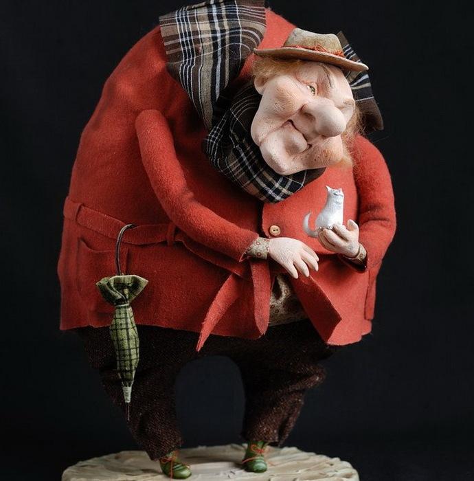 Коллекционная кукла ручной работы.