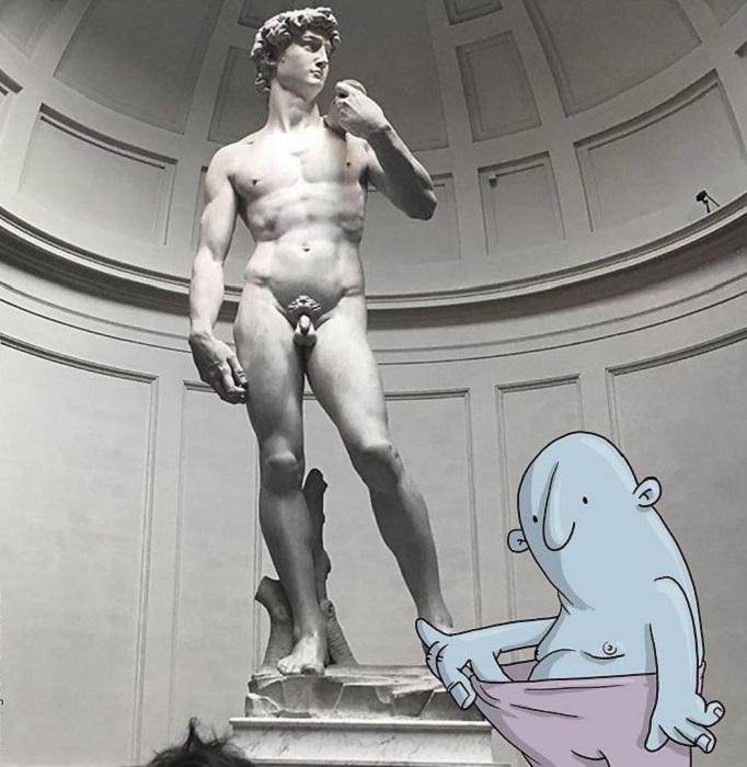 Статуя Давида - символ мужской красоты.