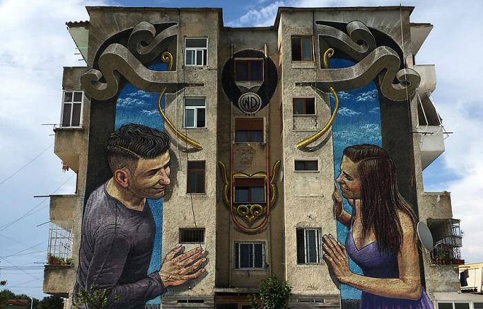 Масштабные уличные рисунки от греческого художника под псевдонимом Wild Drawing.
