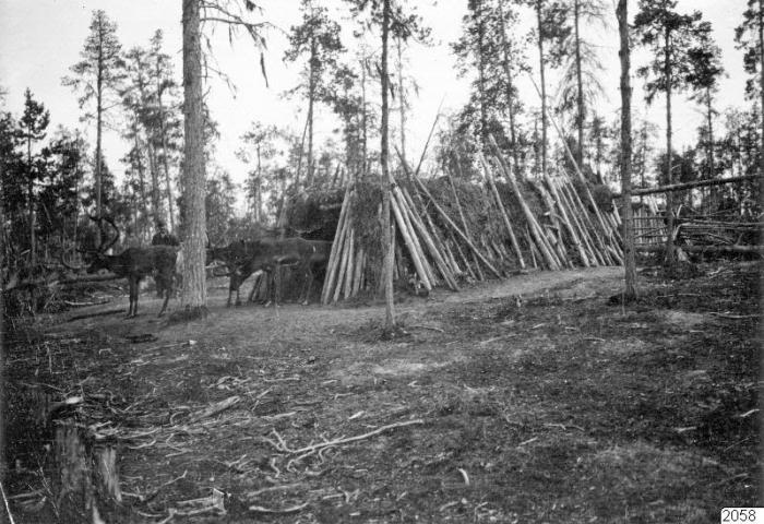 Традиционный загон для северных оленей.