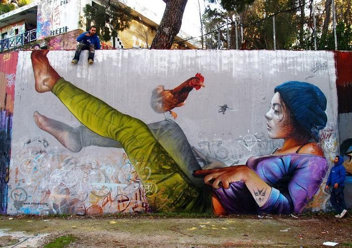 Оригинальный стрит-арт от Пичи и Аво, Греция.