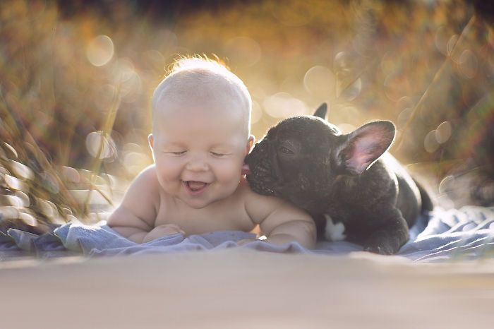 Щенок и его лучший друг.