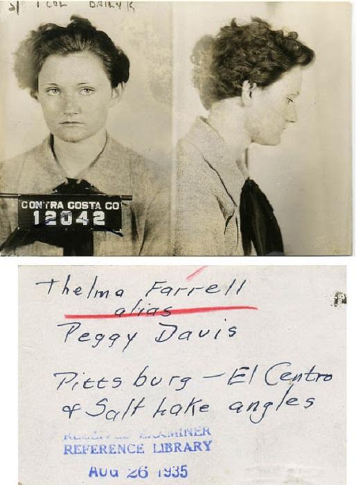 Снимок женщины правонарушителя.