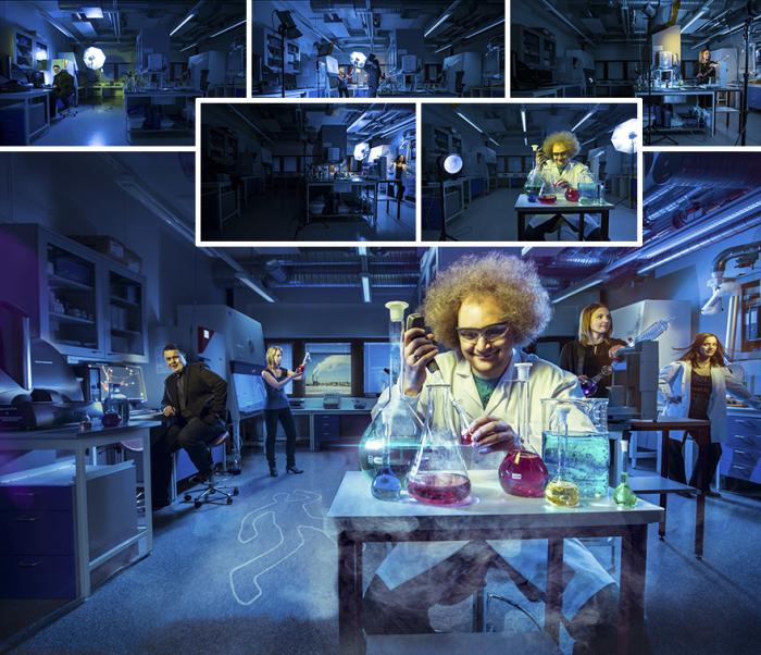 Веселые будни вымышленной криминалистической лаборатории.