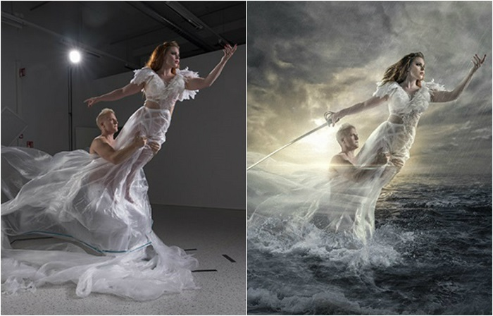 Обычная фотография, сделанная в домашней студии, превратилась в красочную иллюстрацию с помощью умелых манипуляций Антти Карппинена (Antti Karppinen).