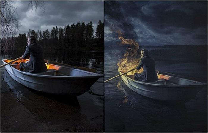 Обработанный в графическом редакторе снимок выглядит более загадочным и мистическим, а реальный – захватывающим и интригующим.