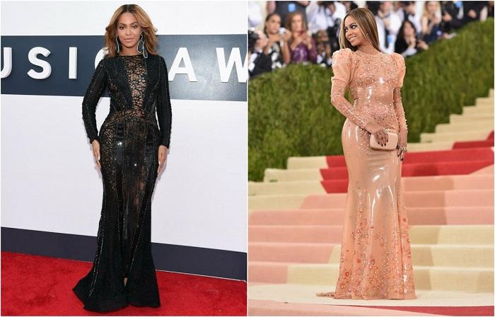 Привлекательную внешность Бейонсе одинаково хорошо подчёркивают как яркие, так и облегающие черные платья. В невероятно роскошном платье от Во Francesco Scognamiglio певица появилась на церемонии вручения премии MTV Movie Awards.