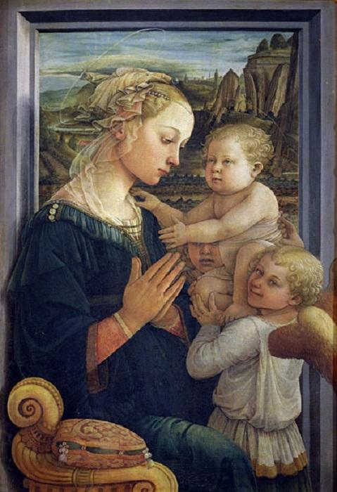 Юная Лукреция Бути смотрит с картин своего возлюбленного супруга — великого художника Филиппо Липпи. Мадонна, муза и любимая в одном образе.