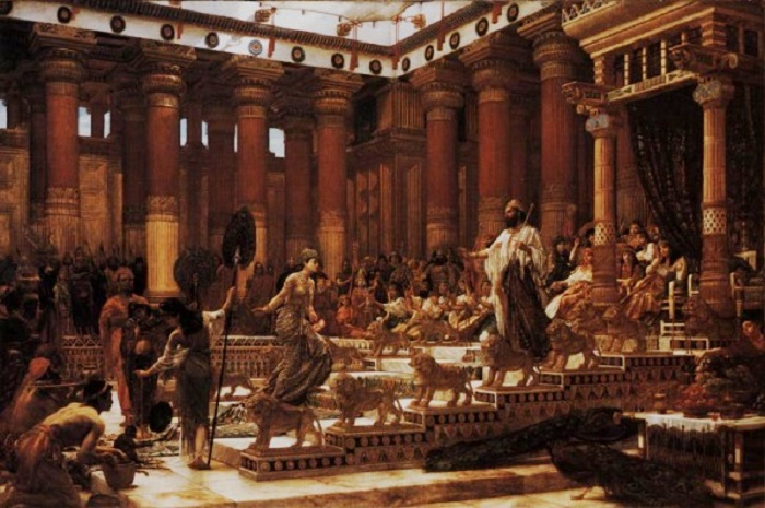 Легендарная правительница аравийского царства Саба с визитом в Иерусалим к израильскому царю Соломону.