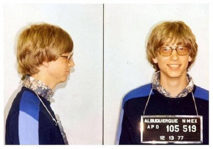 Арест Билла в 1977 год.