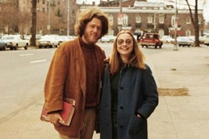 Билл и Хиллари, влюблённые студенты Йельского университета, 1970-е годы.