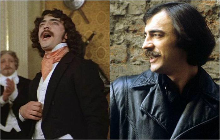 Первая роль в кино - итальянский тенор Нинарди - сыграл юный Михаил Боярский.