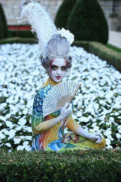 Художница из Германии заняла 3-е место в категории «Кисть и губка» на Всемирном фестивале бодиартинга 2018.
