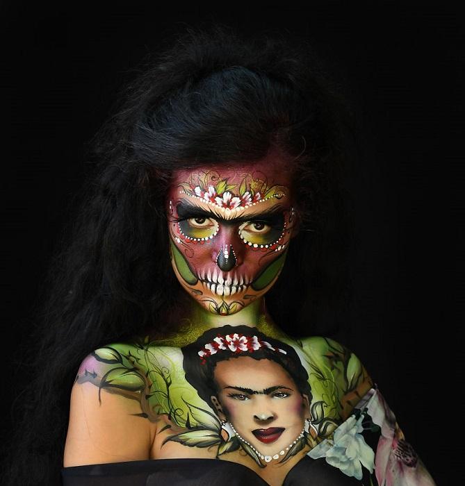 Талантливая художница из Германии заняла почетное 3-е место в категории «Рисование на лице».