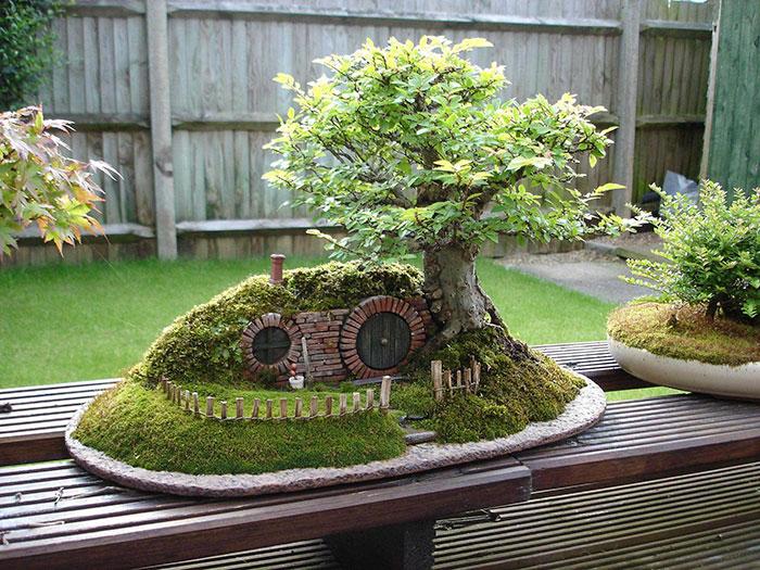 Миниатюрная копия дерева «выращенного в подносе».