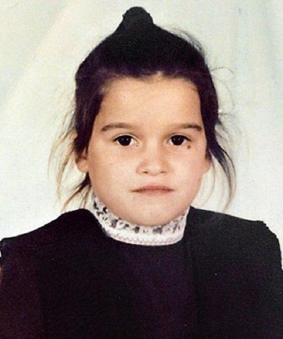 Ксения Бородина в детстве.