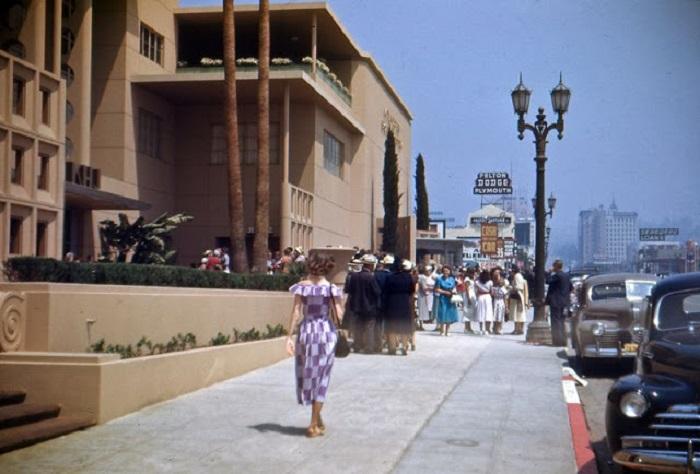 Уличная сцена в Лос-Анджелесе.
