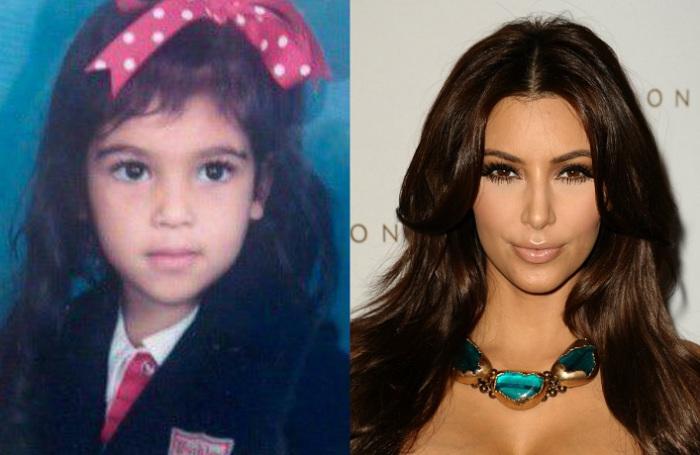 Ким в школьные годы была довольно миловидной девочкой с большими глазами, которой любящие родители ни в чем не отказывали.