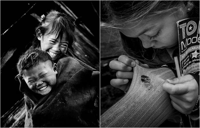 Лучшие монохромные снимки детей из категории «Документальная и уличная фотография».