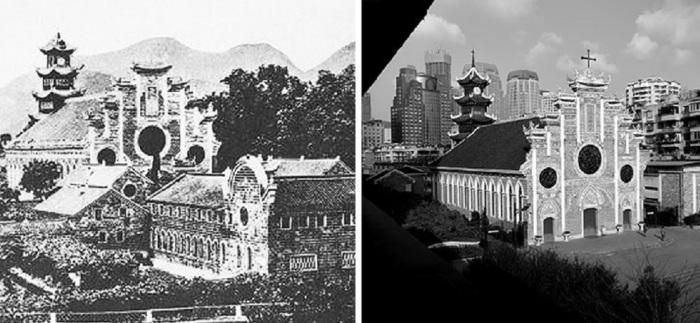 Европейские миссионеры распространяли христианство в Китае в течение 19-го и начале 20-го века, с присущим китайским колоритом.