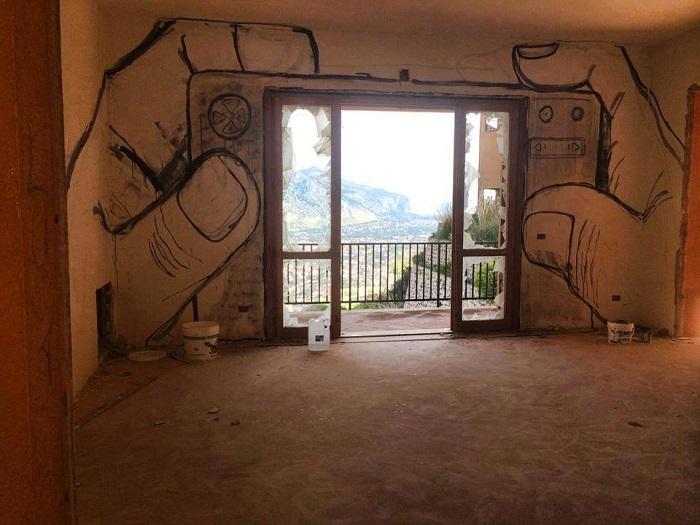 Искусство Collettivo FX в Палермо, Италия.