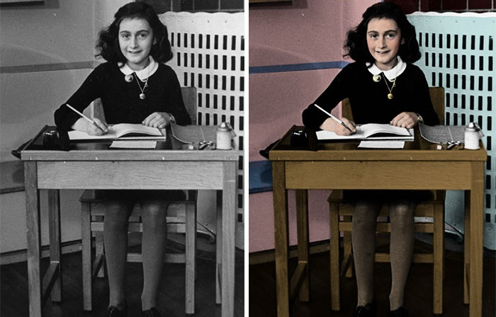 Анна Франк - 13-летняя еврейская девочка, ставшая жертвой нацистов.