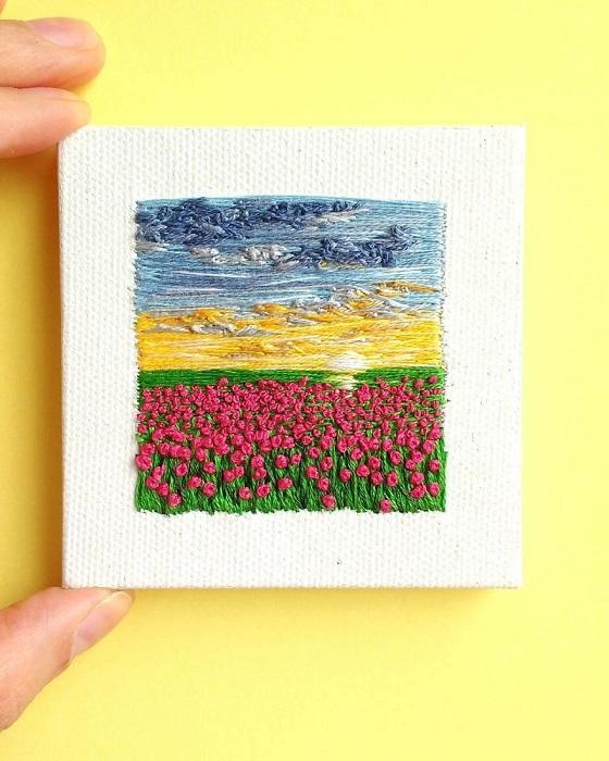 Прогулка по тюльпановым полям.