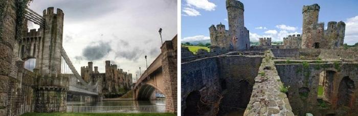 Замок был построен по приказу короля Англии Эдуарда I в 1283-1289 гг. во время второй кампании по завоеванию Уэльса.