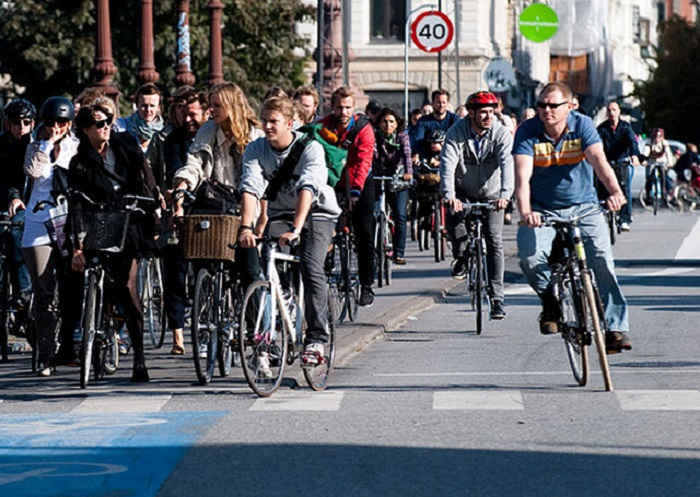 Копенгаген на велосипеде.