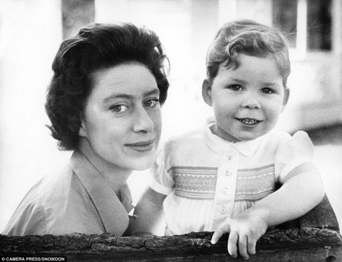 Маргарет Роуз и её сын Дэвид Линли.