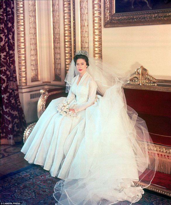 Принцесса Маргарет в день свадьбы, 1960 год.