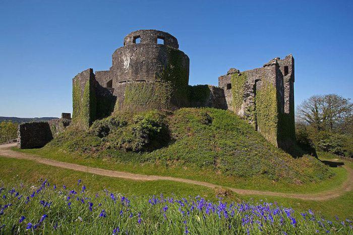 Тысячелетний замок возвышается над рекой Тауи, близ города Лландейло в графстве Кармартеншир, Уэльс, Великобритания.